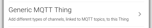 Add Generic MQTT Thing